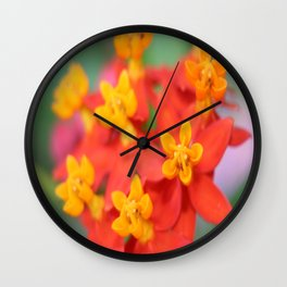 Succulent Red and Yellow Flower III Wall Clock