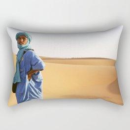 Blue Berber Morocco Rectangular Pillow
