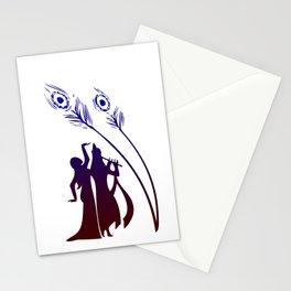 Divine Raas Leela With Radha And Krishna Stationery Cards