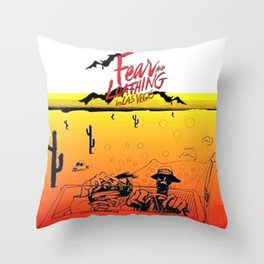 Fear and Loathing in Las Vegas- Desert Throw Pillow