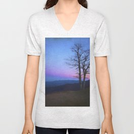Parkway Overlook at Sunset Unisex V-Neck