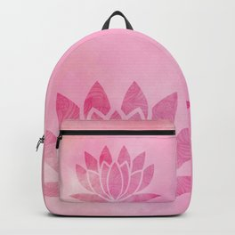 Zen Watercolor Lotus Flower Yoga Symbol Backpack