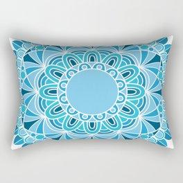 blue snowflake mandala Rectangular Pillow