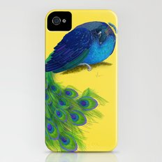 The Beauty That Sleeps - Vertical Peacock Painting iPhone (4, 4s) Slim Case