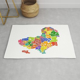 African Continent Cloud Map Rug
