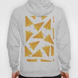 Geometrical sunflower yellow watercolor chevron Christmas trees Hoody
