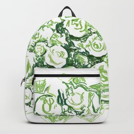 Green Roses Bouquet Sketch Backpack