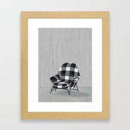 Buffalo Chair Framed Art Print