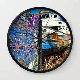 Old Sicilian Port of Alcitrezza Wall Clock