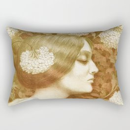 Autumn Woman, art nouveau drawing Paul Berthon 1900 Rectangular Pillow