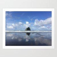 Islands on the coast Art Print