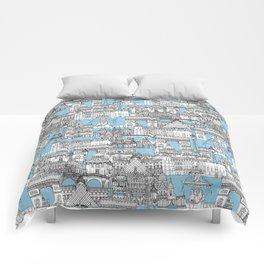 Paris toile cornflower blue Comforters