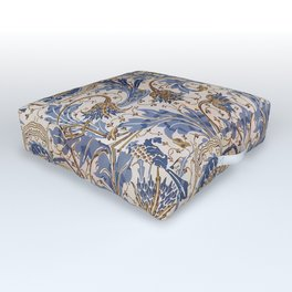 Aged Pomegranate Pattern Outdoor Floor Cushion