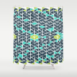 Tribal Triangles Shower Curtain