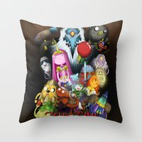 lemongrab Throw Pillows featuring Zelda Time! by Yiji