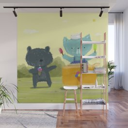 Happy Ice Cream Day Wall Mural