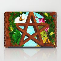 pagan iPad Cases featuring Oasis Pagan Folk Art by BohemianBound
