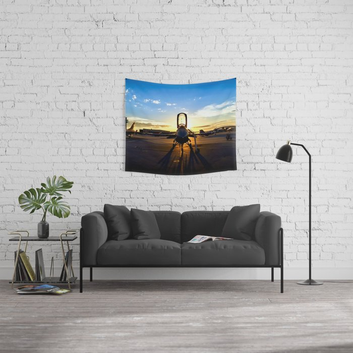 Viper at Sunset Wall Tapestry