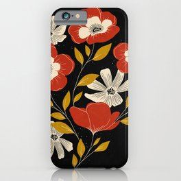 Maroon Anemones iPhone Case