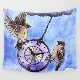 Clock Wall Tapestry