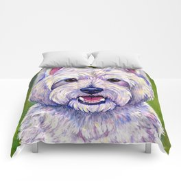Colorful West Highland White Terrier Dog Comforters