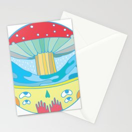 Happy fungus Stationery Cards