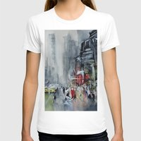 new york T-shirts featuring New York - New York by Nicolas Jolly