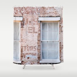Faded Brick Shower Curtain