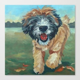 Wheaton Terrier Dog Portrait Canvas Print