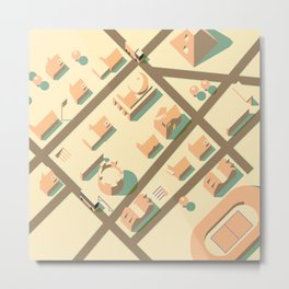 axonometric city Metal Print