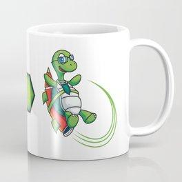 Cartoon Turtle on Rocket Speed Coffee Mug