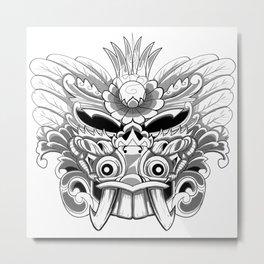Balinese Barong Mask Metal Print