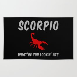 Scorpio: What Are You Looking At? Rug