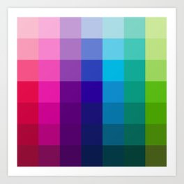 Colors Schemes Art Print