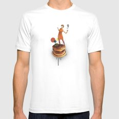 These Burgers Are Crazy | Collage White MEDIUM Mens Fitted Tee