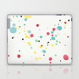 Watercolor splatters on white leather Laptop & iPad Skin