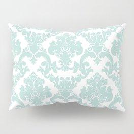 damask, in eau de nil Pillow Sham