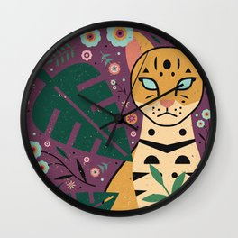 Ocelot Cub Wall Clock