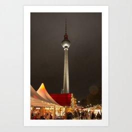 Berlin Fernsehturm Art Print