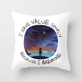 value Throw Pillow