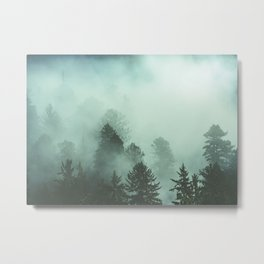 Magnificent Morning - Foggy Redwood Forest Nature Photography Metal Print