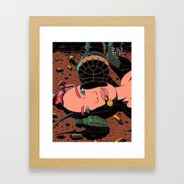 Last laugh Framed Art Print
