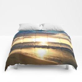 Poolenalena Beach Sunset Makena Maui Hawaii Comforters