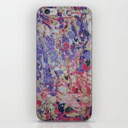 Flame On marbleized print iPhone Skin