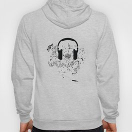 Headphones and Music Notes Hoody