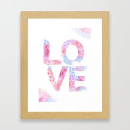 XOXO Floral Watercolor Printable Home Wall Decor Framed Art Print