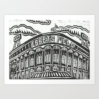 dodgers Art Prints featuring Ebbets Field by Peter Dunne