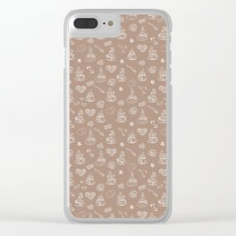 Tea time warm taupe Clear iPhone Case