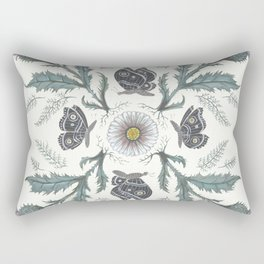 Thistle Moth Rectangular Pillow