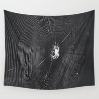 spider Wall Tapestries featuring Spider by LadyJennD